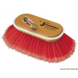 "Shurhold Industries - Brosse 6"" fibres souples + moyennes rouges"