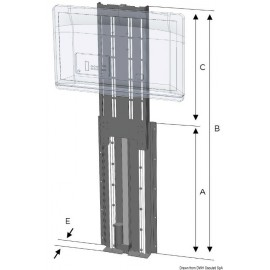 NOVAL - UP-DOWN TV-LIFT 750 mm 12 V