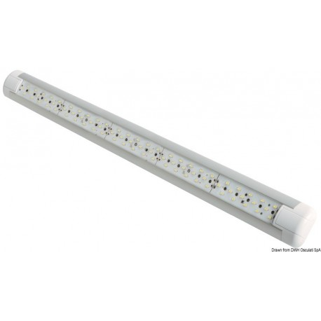 Osculati - Eclairage Slim 75 LED anti-choc 12/24 V 7 W