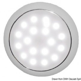 Plafonnier LED sans encastrement Day/Night chromee