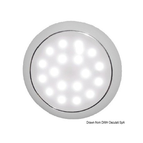 Osculati - Plafonnier LED sans encastrement Day/Night chromee
