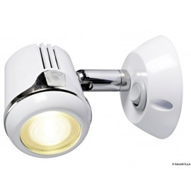 Spot articule blanc HI-POWER LED 12/24 V