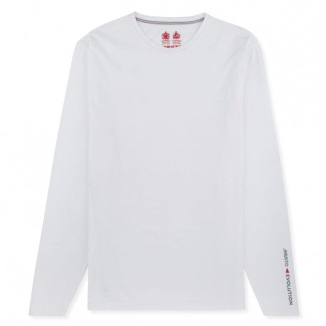 MUSTO - T-shirt Evolution manches longues - Blanc