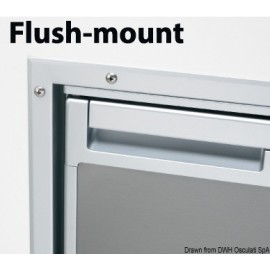 Waeco - Chassis flush mount refriger Coolmatic CR50S Inox