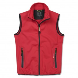 Gilet Crew Softshell pour homme - rouge