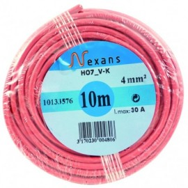 BOBINE 50M CABLE 2,5MM2 ROUGE HO7VK