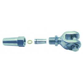 EURO MARINE - 1 EMBOUT A CHAPE A SERTISSAGE RAPIDE diam.5MM