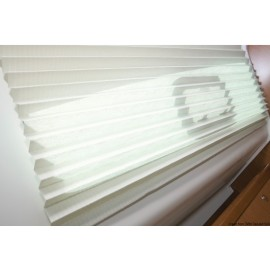Oceanair pleated shade 381 x 305 mm crème